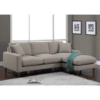 Shaffer Grey Fabric Two-piece Sectional Sofa