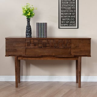 Tessuto Tobacco Finish 4-drawer Sofa Table