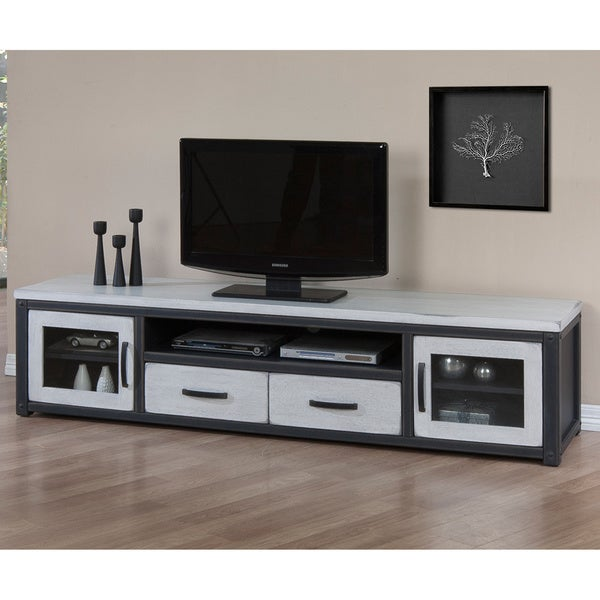 Heritage Cloudy White Entertainment Center Overstock