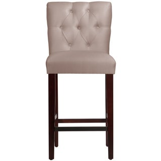 Made to Order Tufted Mor Barstool in Silk-Like Shantung Dove