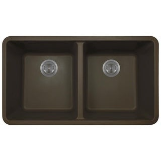 MR Direct 802 TruGranite Double Equal Bowl Kitchen Sink