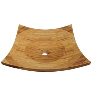 MR Direct 892 Bamboo Vessel Bathroom Sink