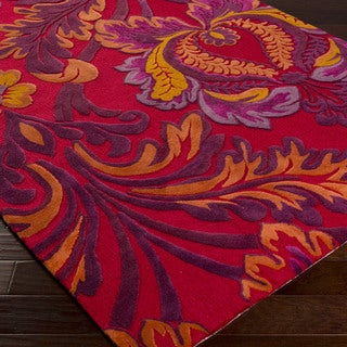 Artfully Crafted Tashkent Floral Polyester Area Rug-(3'6 x 5'6)