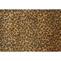 Leopard Skin Brown Nylon Area Rug (5' x 7'3)