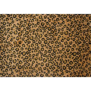 Leopard Skin Brown Nylon Area Rug (8' x 11')