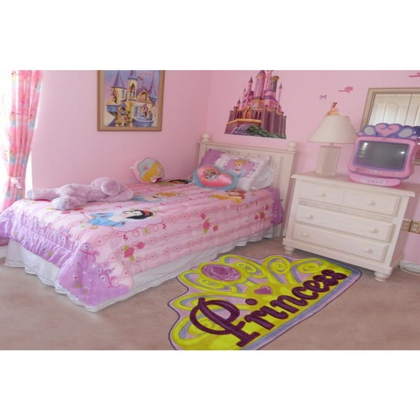 Pretty Princess Pink Nylon Area Rug (2'6 x 3'9)