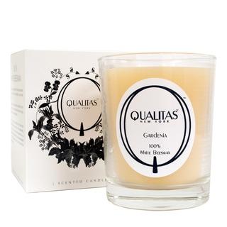 Qualitas 100-percent USP Pharmaceutical White Beeswax Gardenia Candle