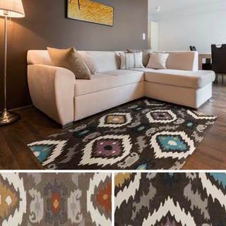 Artfully Crafted Rawlins Ikat Polyester Area Rug-(8' x 11')