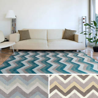 Artfully Crafted Torrigton Chevron Polyester Area Rug-(8' x 11')