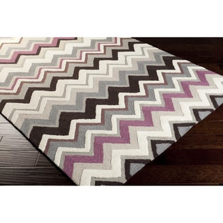 Artfully Crafted Nantek Chevron Polyester Area Rug-(8' x 11')