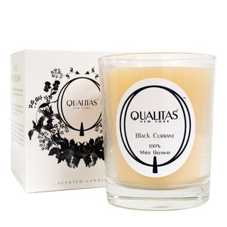 Qualitas 100-percent USP Pharmaceutical White Beeswax Black Currant Candle