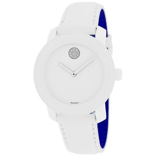 Movado Women's 3600043 Bold White Leather Watch