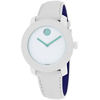 Movado Women's 3600154 Bold White Leather Watch