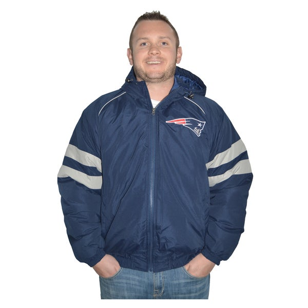 New England Patriots NFL Heavyweight Hooded Jacket