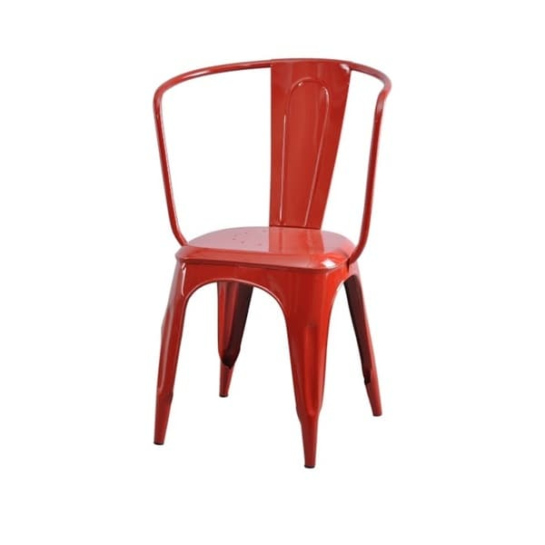 Industrial Red Tolix Carver Chair (Set of 2)