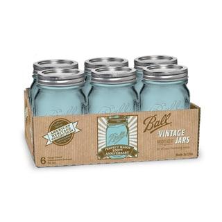 Ball Heritage Collection Blue Pint Mason Jars, 12pk