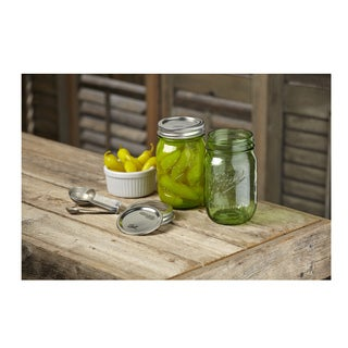 Ball Heritage Collection Green Pint Mason Jars, 12pk