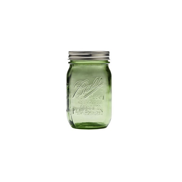 BALL HERITAGE COLLECTION PINT RM JARS -SPRING GREEN pack of 6