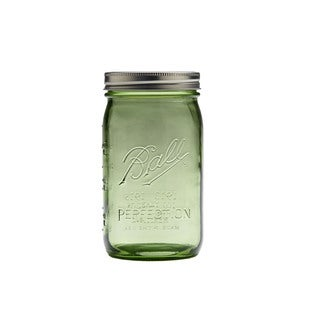 Ball Heritage Collection Quart Jars -Spring Green (pack of 6)