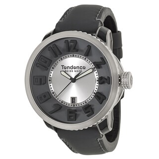 Tendence Men's 'Steel' TG630009 Stainless Steel Swiss Quartz Watch