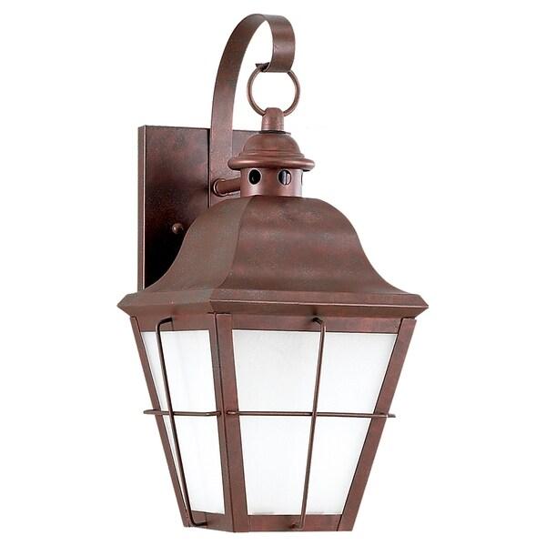 Fluorescent One-light Outdoor Wall Lantern Fixture