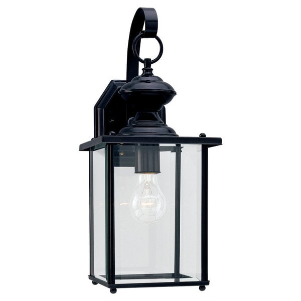 Sea Gull Jamestowne 1-light White Outdoor Wall Lantern