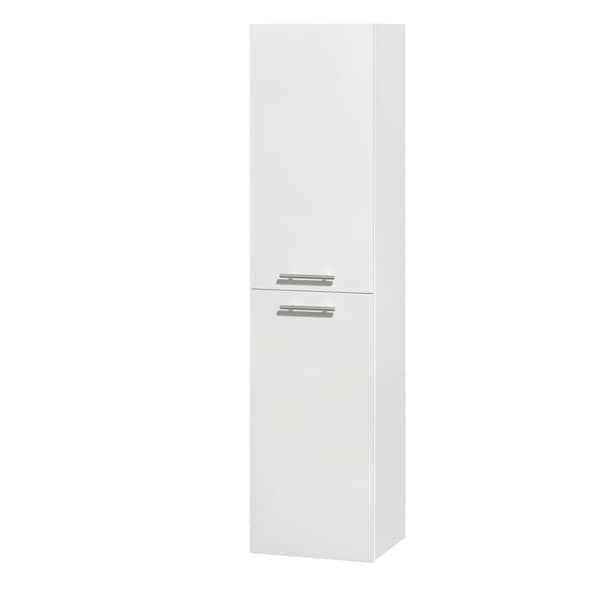 Wyndham Collection Amare 56-inch Wall-mounted Bathroom Storage Cabinet in Glossy White (Two-door)