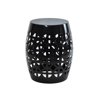 Artisan Black Garden Stool/ Side Table