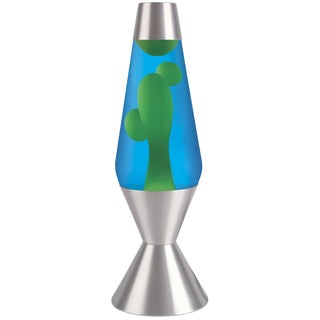 Premier Yellow/ Blue 16.3-inch Lava Lamp with Silver Base