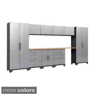 NewAge Products Performance Diamond Plate 11-piece Cabinet Set