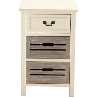 Casa Cortes Nantucket 3-drawer Solid Wood Two-tone Night Stand