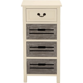 Casa Cortes Nantucket 4-Drawer Solid Wood Two-Tone Night Stand
