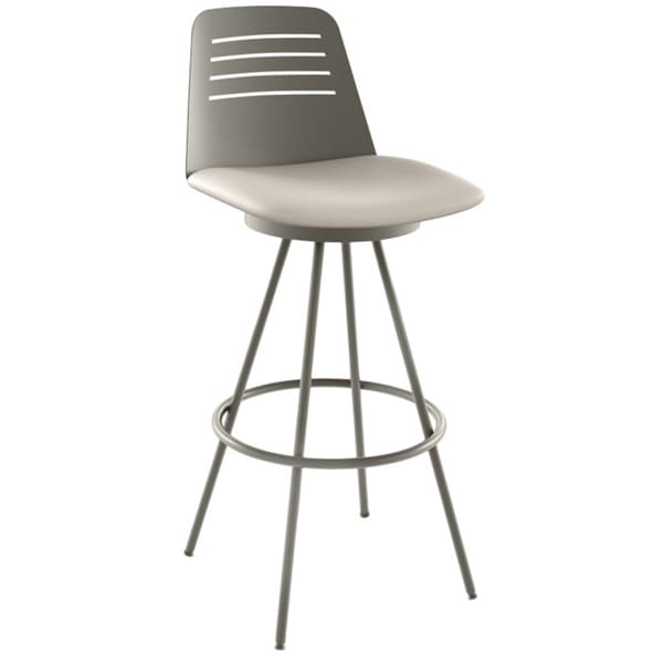 Amisco Evo 26-inch Metal Swivel Counter Stool