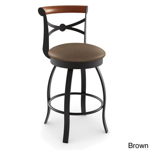 Amisco Bourbon Swivel Metal Bar Stool 16788932