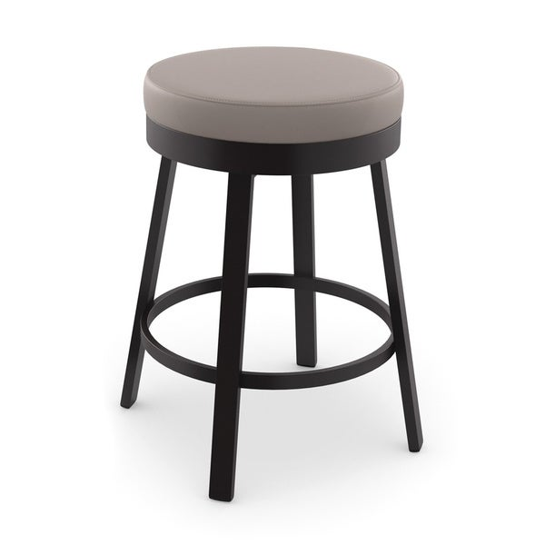 Amisco Clock Swivel Metal Counter Stool 16788935