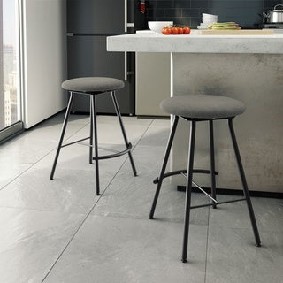 Amisco Shortcut Swivel Metal Counter Stool