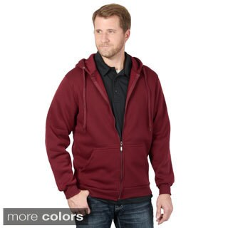 Vance Co. Men's Long Sleeve Fleece Lined Zip-up Hoodie