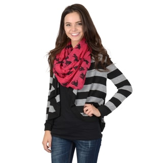 Hailey Jeans Co. Junior's Striped Long Sleeve Comfort Cardigan