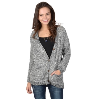 Hailey Jeans Co. Junior's Marled Knit Button-up Cardigan