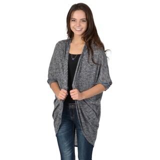 Hailey Jeans Co. Junior's Marled Knit Dolman Sleeve Cardigan