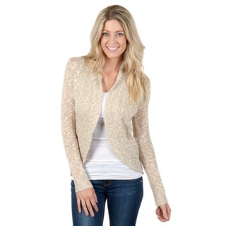 Hailey Jeans Co. Junior's Marled Knit Long Sleeve Fitted Cardigan