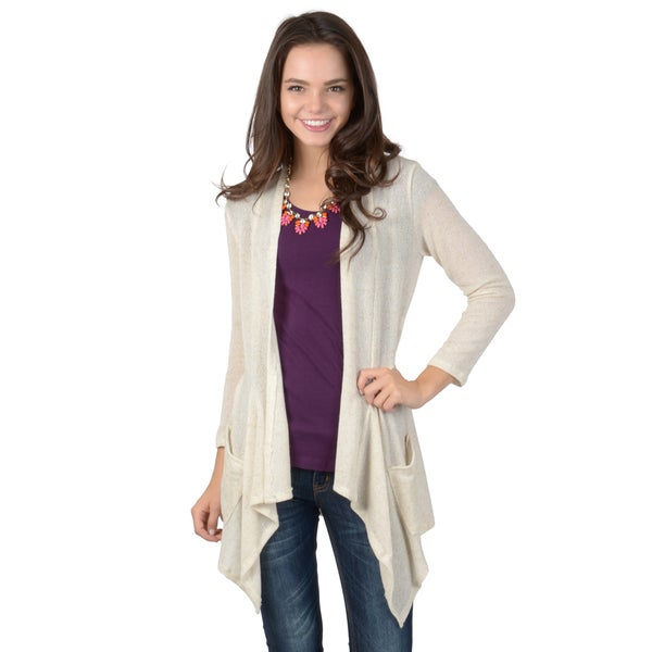 Hailey Jeans Co. Junior's Lightweight Cropped Sleeve Cardigan