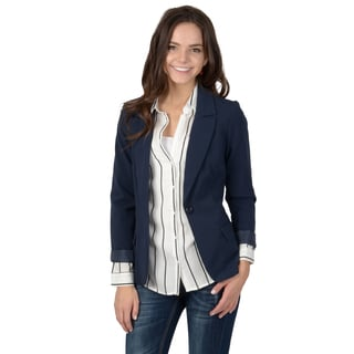 Hailey Jeans Co. Junior's Fitted Button-Up Blazer