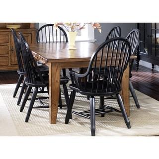 Liberty Rustic Oak/ Black 7-piece Dinette Set