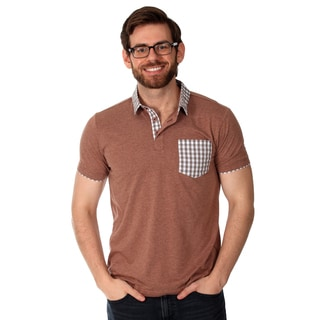Filthy Etiquette Men's Red and Gingham Solid Polo