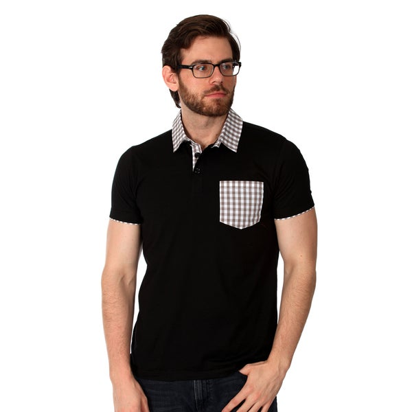 Filthy Etiquette Men's Solid Polo in Black