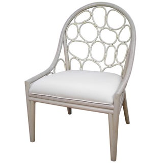 Pebbles White Occasional Chair