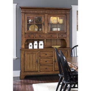 Treasures Rustic Oak Buffet and Hutch