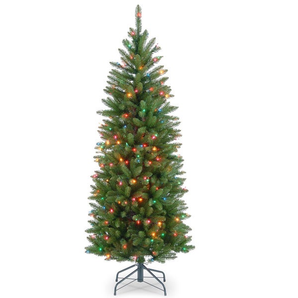 4.5-foot Kingswood Fir Hinged Pencil Tree 150 Multi Lights
