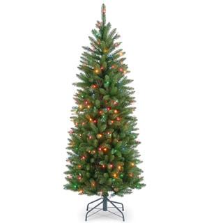 4.5-foot Kingswood Fir Hinged Pencil Tree 150 Multi Lights
